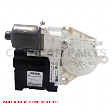 AUDI A3 8P MODELS 2004 - 08 OSF DRIVER SIDE FRONT RIGHT WINDOW MOTOR 8P0959801E